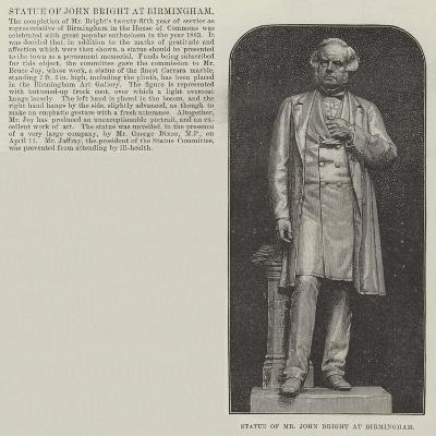 Statue of Mr John Bright at Birmingham--Giclee Print