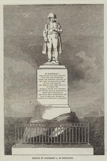 Statue of Napoleon I, at Boulogne--Giclee Print