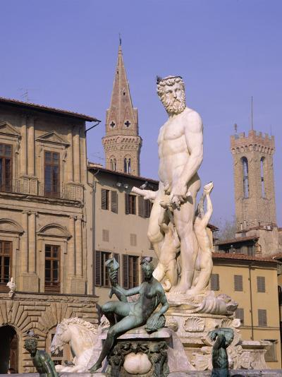 Statue of Neptune, Florence, Tuscany, Italy-Roy Rainford-Photographic Print