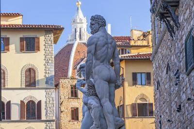Statue of Neptune, Piazza Della Signora, Florence, Italy-Peter Adams-Photographic Print