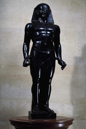 Statue of Osiris in Black Marble, by Antoine-Guillaume Granjacquet--Giclee Print