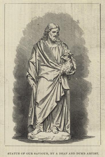 Statue of Our Saviour, by a Deaf and Dumb Artist--Giclee Print