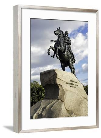 Statue of Peter the Great in St. Petersburg, Russia-Gavin Hellier-Framed Photographic Print