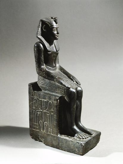 Statue of Pharaoh Neferhotep I. Microgabbro, from El Fayum--Giclee Print