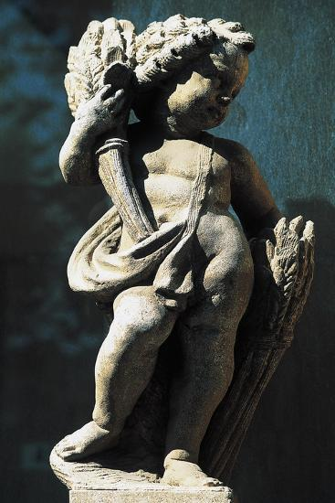 Statue of Putto, Spa Town Terme Di Fiuggi, Lazio, Italy--Giclee Print