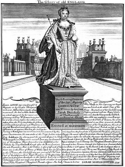 Statue of Queen Anne (1665-171), Blenheim Palace, Oxfordshire, 1738--Giclee Print