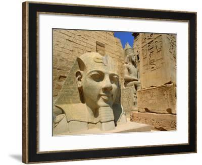Statue of Ramses II and Obelisk, Luxor Temple, Luxor, Egypt, North Africa-Gavin Hellier-Framed Photographic Print