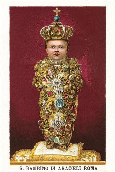 Statue of Saint Bambino--Art Print