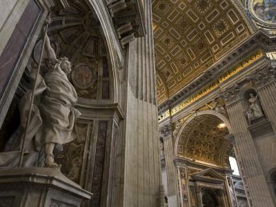 Statue of Saint Longinus by Bernini Inside Saint Peter's Basilica-Scott Warren-Photographic Print