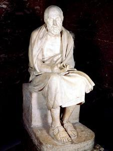 Statue of Seated Man Said to Be Herodotus, Ancient Greek Historian