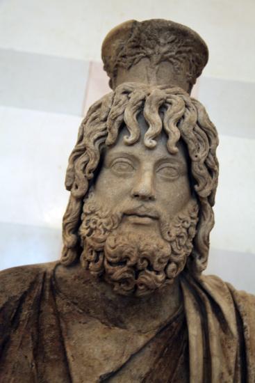 Statue of Serapis, Greco - Egyptian God of the Underworld--Photographic Print