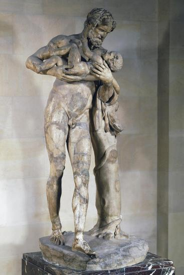 Statue of Silenus with Dionysus in His Arms--Giclee Print