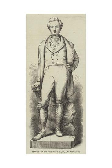 Statue of Sir Humphry Davy, at Penzance--Giclee Print