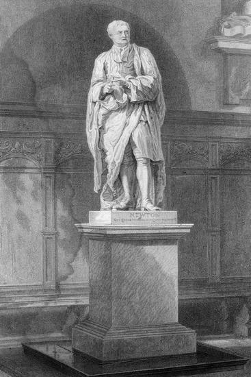 Statue of Sir Isaac Newton, English Mathematician, Astronomer and Physicist, 19th Century-John Le Keux-Giclee Print