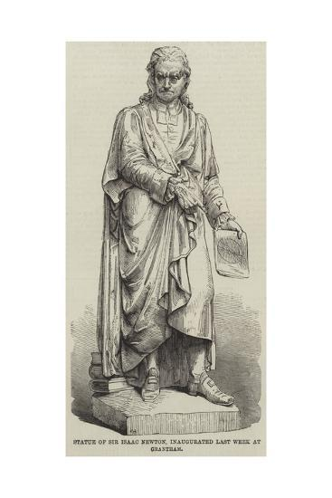 Statue of Sir Isaac Newton, Inaugurated Last Week at Grantham--Giclee Print