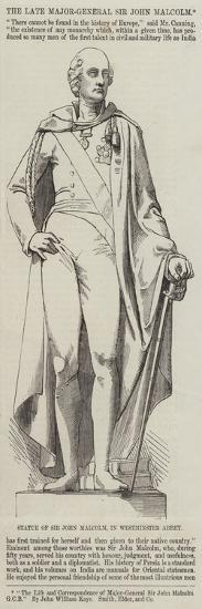 Statue of Sir John Malcolm, in Westminster Abbey--Giclee Print