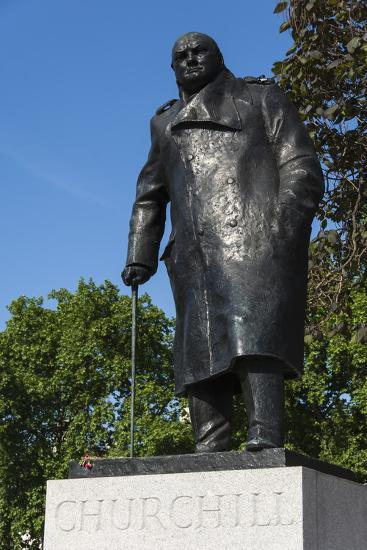 Statue of Sir Winston Churchill, Parliament Square, London, England, United Kingdom, Europe-James Emmerson-Photographic Print