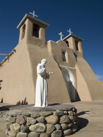 Statue of St. Francis of Assisi, Old Mission of St. Francis De Assisi, Built About 1710, Ranchos De-Richard Maschmeyer-Photographic Print