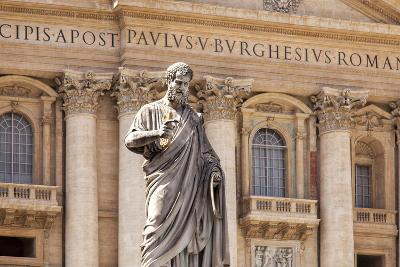 Statue of St. Peter, St. Peter's Piazza, Vatican, Rome, Lazio, Italy, Europe-Simon Montgomery-Photographic Print