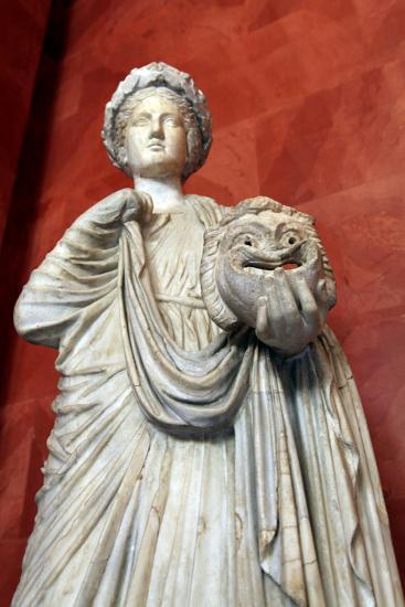 Statue of Thalia, Muse of Comedy--Photographic Print