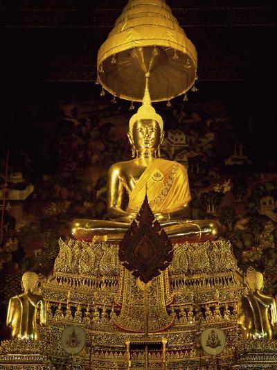 Statue of the Buddha, Wat Pho (Wat Po) (Wat Phra Chetuphon), Bangkok, Thailand, Southeast Asia-Gavin Hellier-Photographic Print