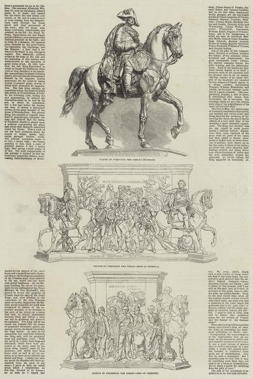 Statue of the Frederick the Great at Berlin--Giclee Print