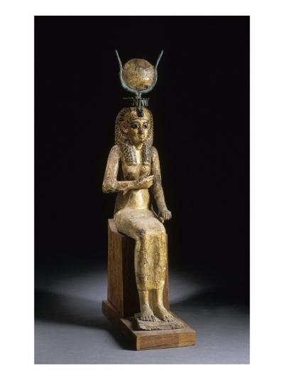 Statue of the Goddess Isis Suckling the Child Horus--Giclee Print