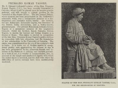 Statue of the Honourable Prussano Komar Tagore, Csi, for the Senate-House at Calcutta--Giclee Print