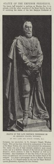 Statue of the Late Emperor Frederick in St George's Chapel--Giclee Print