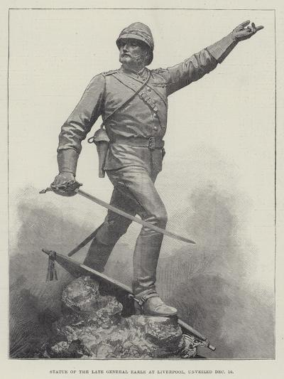 Statue of the Late General Earle at Liverpool, Unveiled 16 December--Giclee Print