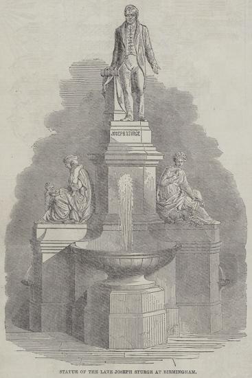 Statue of the Late Joseph Sturge at Birmingham--Giclee Print