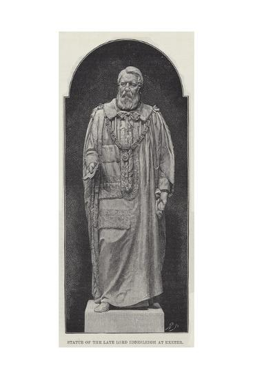 Statue of the Late Lord Iddesleigh at Exeter--Giclee Print