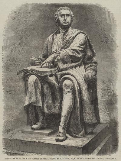 Statue of the Late Lord Justice-General Boyle, by J Steell, Rsa, in the Parliament House, Edinburgh--Giclee Print