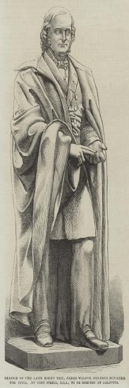 Statue of the Late Right Honourable James Wilson--Giclee Print