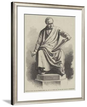 Statue of the Late Sir Charles Barry, Ra, by J H Foley, Ra, in the New Palace of Westminster--Framed Giclee Print