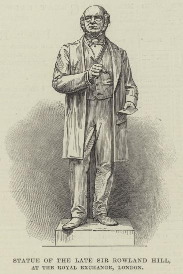Statue of the Late Sir Rowland Hill, at the Royal Exchange, London--Giclee Print