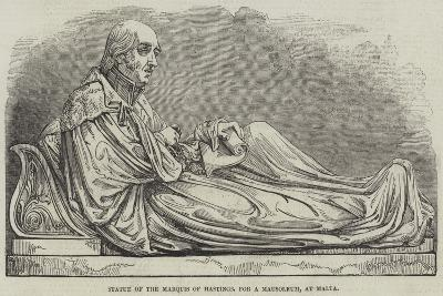 Statue of the Marquis of Hastings, for a Mausoleum, at Malta--Giclee Print