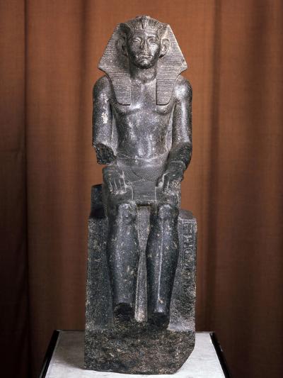 Statue of the Pharaoh Amenemhat III, 19th Century Bc--Photographic Print