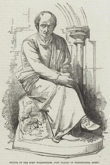 Statue of the Poet Wordsworth, Just Placed in Westminster Abbey--Giclee Print