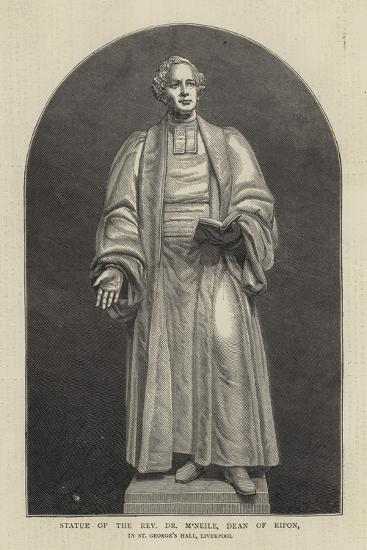 Statue of the Reverend Dr M'Neile, Dean of Ripon, in St George's Hall, Liverpool--Giclee Print