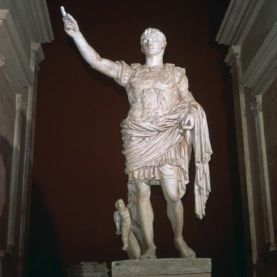 Statue of the Roman Emperor Augustus, 1st century BC-Unknown-Giclee Print