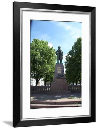Statue of the Russian Composer Mikhail Glinka, St Petersburg, Russia, 2011-Sheldon Marshall-Framed Photographic Print