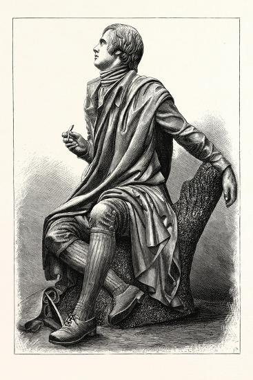Statue of the Scottish Poet Robert Burns, 1759 1796--Giclee Print