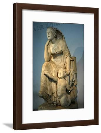 Statue of the Thinking Sea Goddess-Werner Forman-Framed Giclee Print
