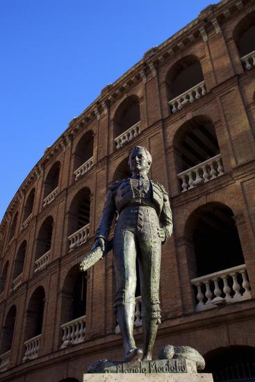 Statue of the Toreador Manolo Montoliu, Plaza De Toros, Valencia, Spain, Europe-Neil Farrin-Photographic Print