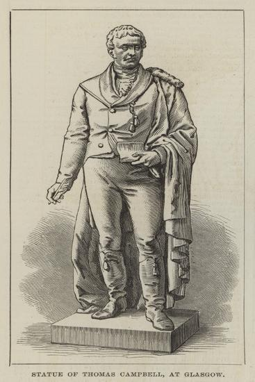 Statue of Thomas Campbell, at Glasgow--Giclee Print