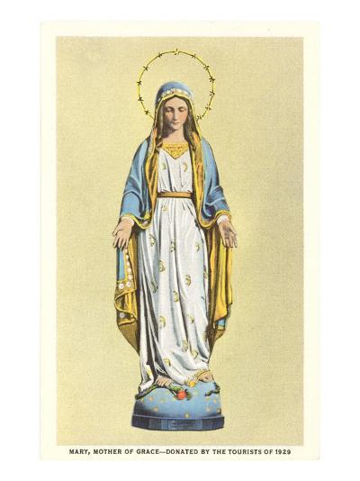 Statue of Virgin Mary--Art Print