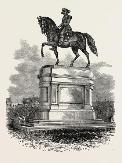 Statue of Washington at Boston, USA, 1870S--Giclee Print