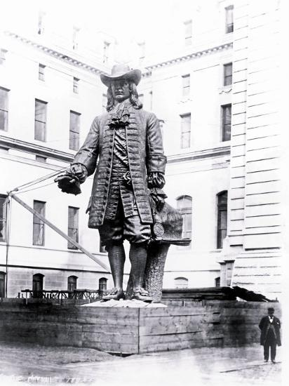 Statue of William Penn in Courtyard of City Hall, Philadelphia, Pennsylvania--Photo