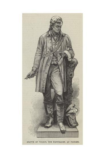 Statue of Wilson, the Naturalist, at Paisley--Giclee Print